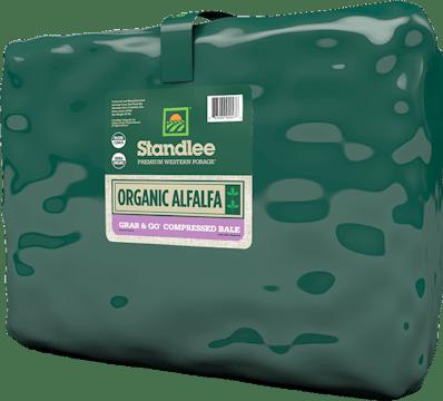 Premium Organic Alfalfa Grab & Go Compressed Bale Product Photo